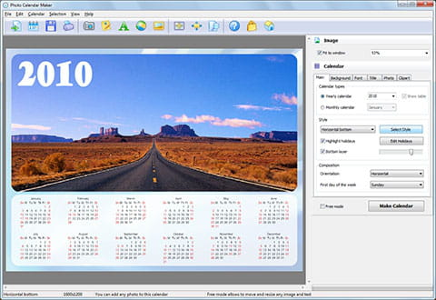 download the latest version of photo calendar maker free in english
