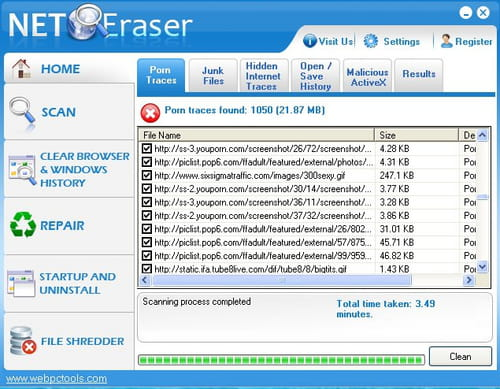 Download the latest version of Net Eraser free in English on CCM