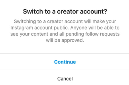 Instagram business screenshot