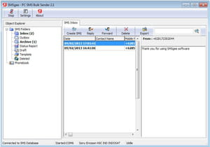 Download the latest version of PC SMS Bulk Sender free in