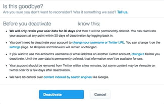 how to permanently delete twitter