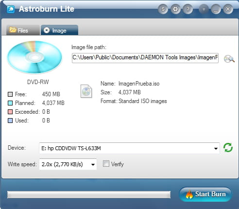 Daemon Tools Lite - Burn an ISO image file