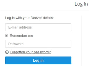 How to recover a lost password on Deezer