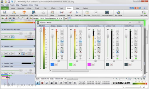 Download the latest version of MixPad Multitrack Recording