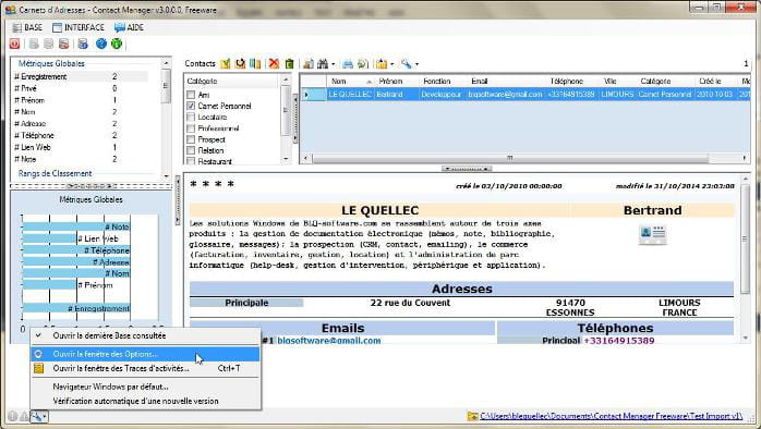 Download the latest version of Contact Manager Freeware free