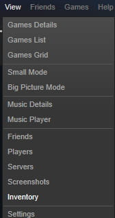 Steam - How to change the privacy setting of the inventory