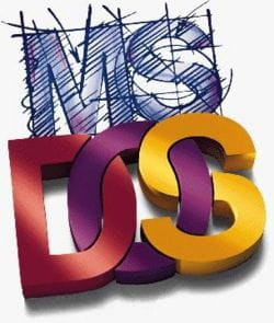 MS-DOS - List the contents of a directory in a file