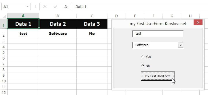 Excel VBA: Simple UserForm example