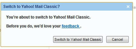Yahoo switch to classic