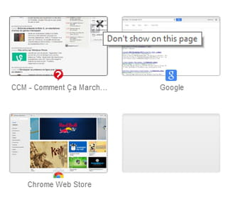 Google Chrome - How to restore the new tab page to its