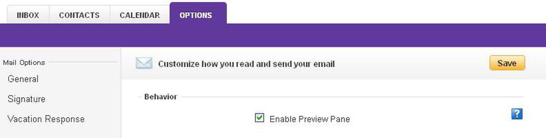 Yahoo enable preview screenshot