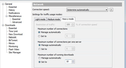 Limit Simultaneous Downloads in Free Download Manager
