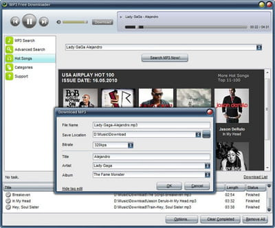 Download the latest version of MP3 free Downloader free in