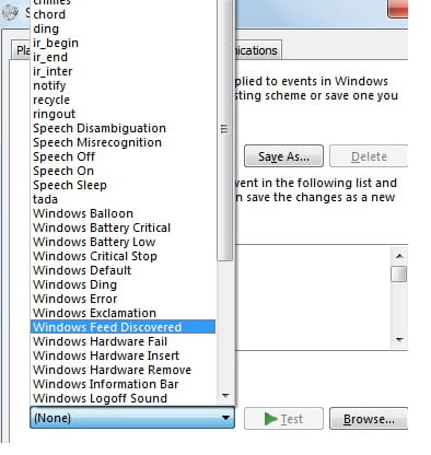 Windows - Change the sound of a system event