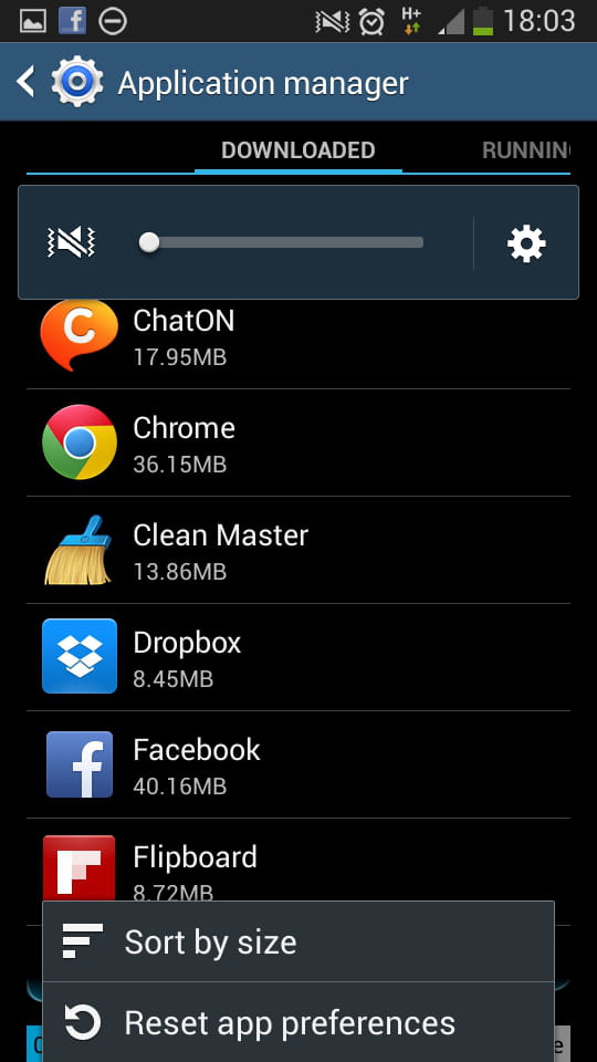 Samsung Galaxy S4 - Reset apps preferences to defaults