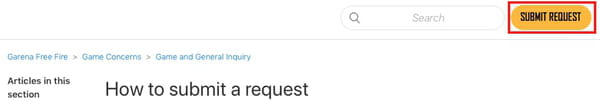 How to submit request screenshot