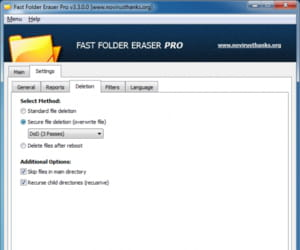 Download the latest version of Fast Folder Eraser Pro free in