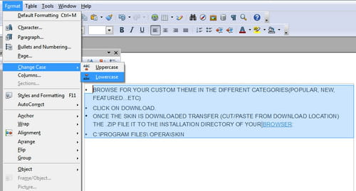OpenOffice Writer - Rapidly change case