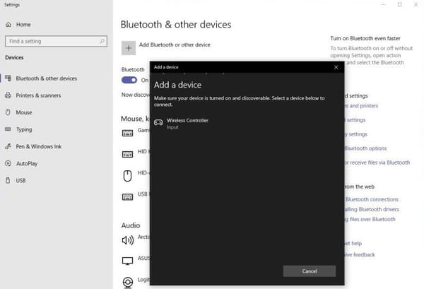 Add bluetooth device screenshot