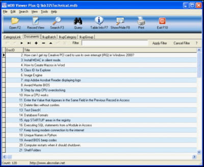 Download the latest version of MDB Viewer Plus free in