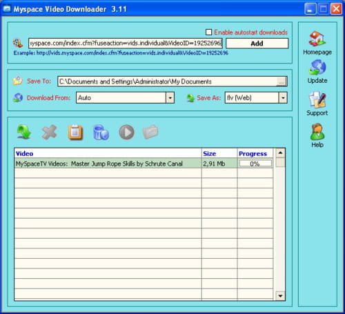 Download the latest version of Myspace Video Downloader free