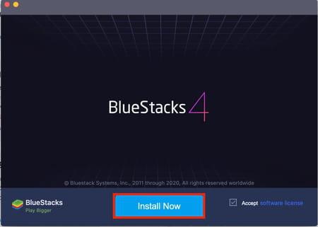 Installing Bluestacks screenshot
