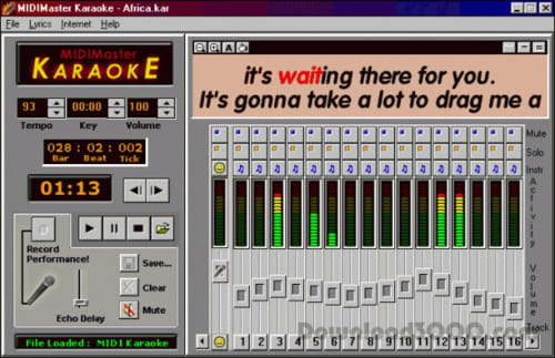 Download the latest version of MIDIMaster Karaoke free in