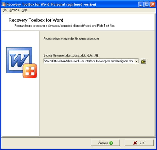 Download The Latest Version Of Recovery Toolbox For Word Free In