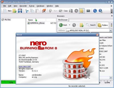 Burning an ISO file using Nero