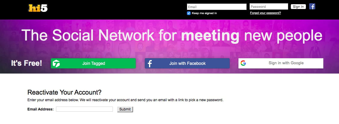 Hi5 com register www How to