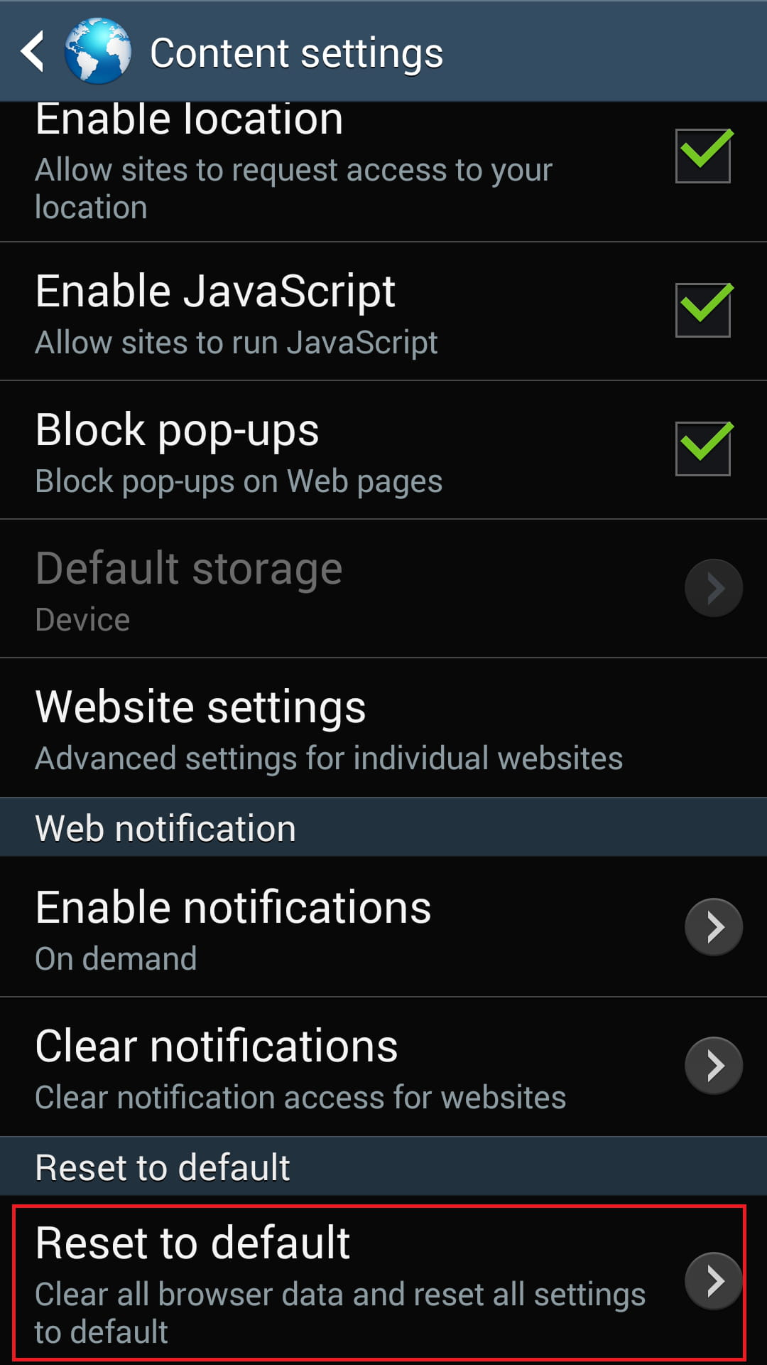 How To Reset Your Browser Settings on Android