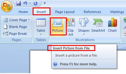 How to insert a picture in a Word document?