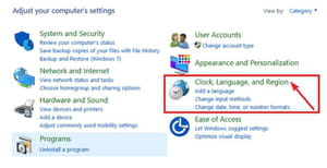 region language windows