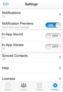 Disable Sounds and Vibrations in Facebook Messenger