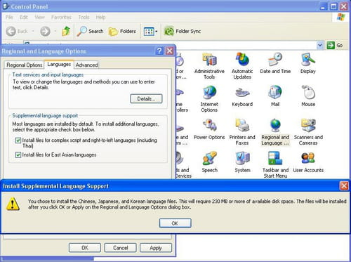 Windows XP - Add the Arabic keyboard layout