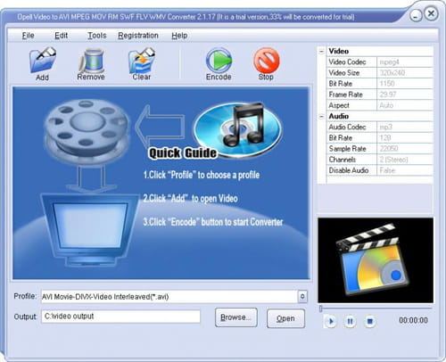 Download the latest version of SWF to AVI MPEG Convert free in