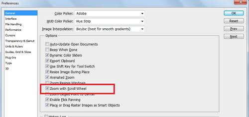 Photoshop cs5 enable zoom options via scroll wheel ccuart Image collections