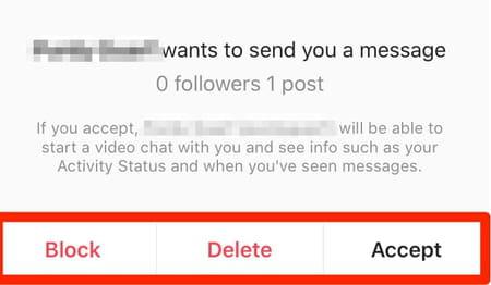 Instagram message request
