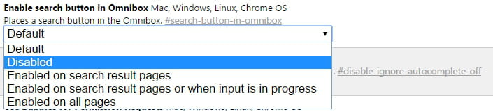 Google Chrome - Disable Searches from the Address Bar