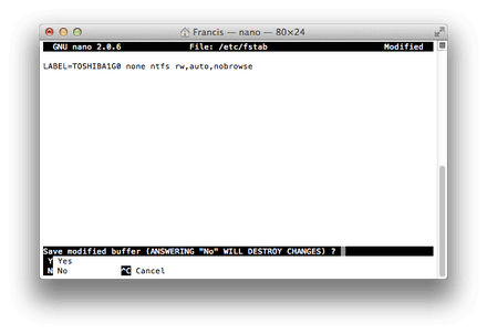How to Enable NTFS Write Support in Mac OS X