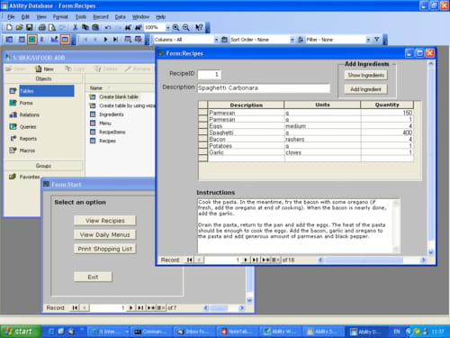 simple database software free download