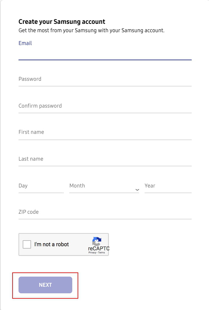 How To Create a Samsung Account