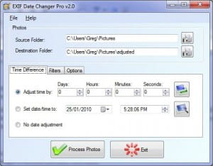 Download the latest version of Exif Date Changer free in