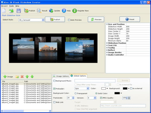 Download the latest version of Aleo 3D Flash Slideshow Creator free