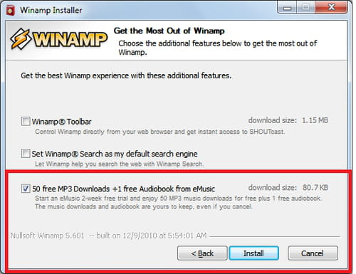 Winamp - Download 50 Mp3 for free and legally