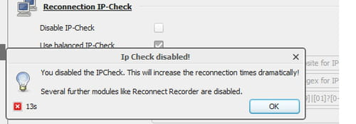 JDownloader - Disable IP-Check