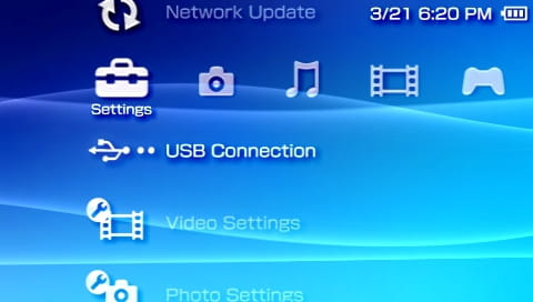 how to update psp with pc