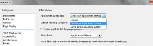 Change Language Settings on Adobe Reader