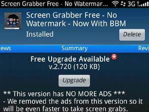 Download the latest version of Screen Grabber for BlackBerry