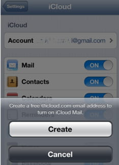 How to create an iCloud email address